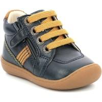 Zapatos Niña Botas de caña baja Aster Chaussures fille  Piasap bleu marine/orange clair