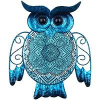 Casa Figuras decorativas Signes Grimalt Figura Búho Azul