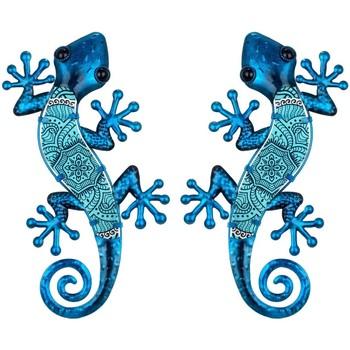 Casa Figuras decorativas Signes Grimalt Figura Lagartos 2 Unidades Azul