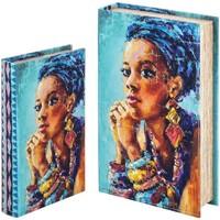 Casa Baúles, cajas de almacenamiento Signes Grimalt Caja libro Set 2 U Azul