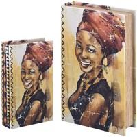 Casa Baúles, cajas de almacenamiento Signes Grimalt Caja libro Set 2 U Beige