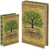 Casa Baúles, cajas de almacenamiento Signes Grimalt Caja libro Set 2 U Verde