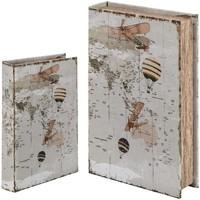 Casa Baúles, cajas de almacenamiento Signes Grimalt Caja libro Set 2 U Blanco