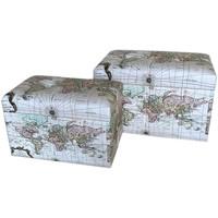 Casa Baúles, cajas de almacenamiento Signes Grimalt Set 2 baules Blanco
