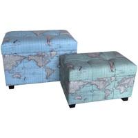 Casa Baúles, cajas de almacenamiento Signes Grimalt Set 2 baules mundo Azul
