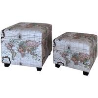 Casa Baúles, cajas de almacenamiento Signes Grimalt Set de 2 baules mundo Blanco