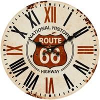 Casa Relojes Signes Grimalt Reloj Pared Route 66 Marrón