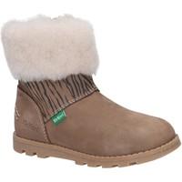 Zapatos Niña Botas de nieve Kickers 878681-10 NONOFUR GOLF Beige