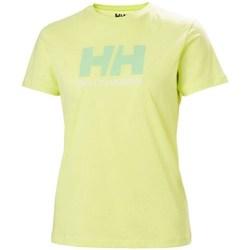 textil Mujer Camisetas manga corta Helly Hansen W Logo Tshirt Verdes