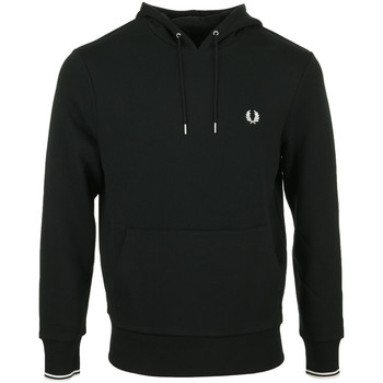 textil Hombre Sudaderas Fred Perry Tipped Hooded Sweatshirt Negro