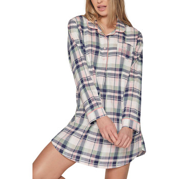 textil Mujer Pijama Admas Chemise de nuit manches longues Hello Weekend Marfil