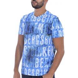 textil Hombre Camisetas manga corta Bikkembergs C 4 101 00 E 2250 - Hombres azul