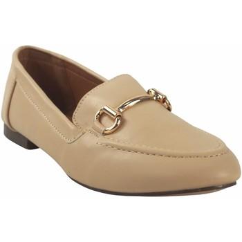 Zapatos Mujer Mocasín Bienve Zapato señora  1as-0193 beig Blanco