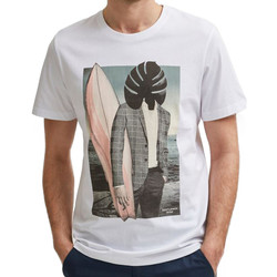 textil Hombre Camisetas manga corta Selected  Blanco