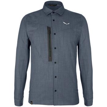textil Hombre Camisas manga larga Salewa Koszula  Fanes Wool Dry M L/S SRT 27762-3988 gris