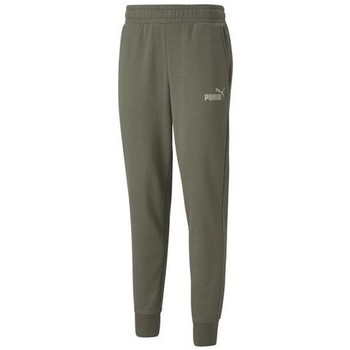 textil Hombre Pantalones de chándal Puma Ess Logo Pants FL CL Verdes