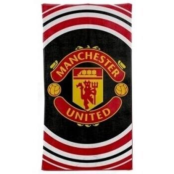 Casa Toalla y manopla de toalla Manchester United Fc BS1347 Blanco/Rojo/Blanco