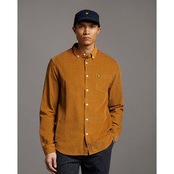 textil Hombre Camisas manga larga Lyle & Scott Chemise  Needle Cord marron