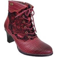 Zapatos Mujer Botines Laura Vita Elcodieo 05 Cuero rojo