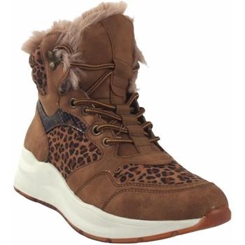 Zapatos Mujer Botas de caña baja Emmshu Botín señora  wester cuero Marrón