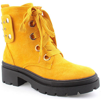 Zapatos Mujer Botines Voga L Ankle boots Military Amarillo