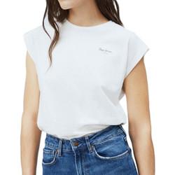 textil Mujer Camisetas manga corta Pepe jeans  Blanco