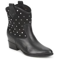 Zapatos Mujer Botas de caña baja Alberto Gozzi GIANNA Terciopelo- Nero