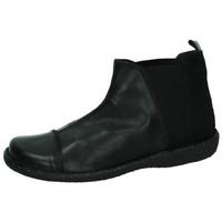 Zapatos Mujer Botas de caña baja Bartty Botines de piel NEGRO