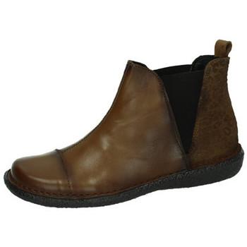 Zapatos Mujer Botas de caña baja Bartty Botines de piel MARRÓN
