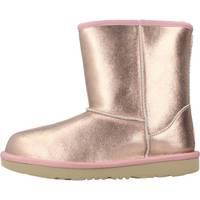 Zapatos Niña Botas de nieve UGG K CLASSIC II METALLIC Rosa
