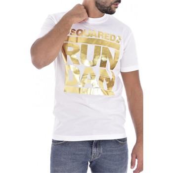 textil Hombre Camisetas manga corta Dsquared S74GD0445 - Hombres blanco