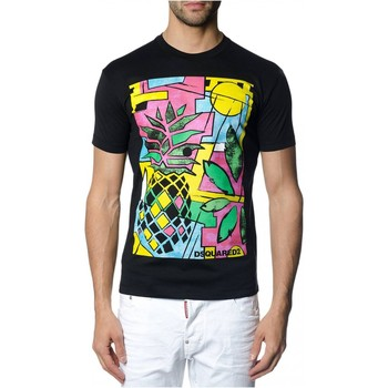 textil Hombre Camisetas manga corta Dsquared S71GD0622 - Hombres negro