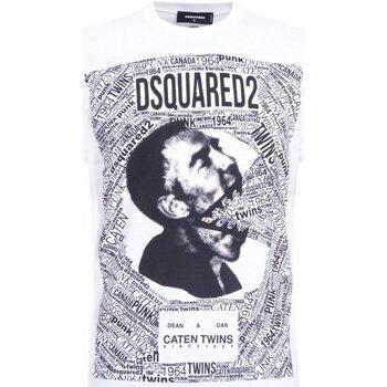 textil Hombre Camisetas manga corta Dsquared S74GD0481 - Hombres blanco