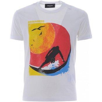 textil Hombre Camisetas manga corta Dsquared S71GD0649 - Hombres blanco