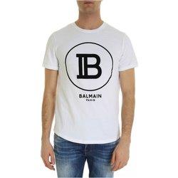 textil Hombre Camisetas manga corta Balmain SH01135 I207 - Hombres blanco