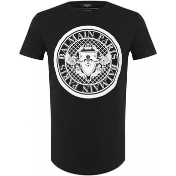 textil Hombre Camisetas manga corta Balmain TH11135 I216 - Hombres negro