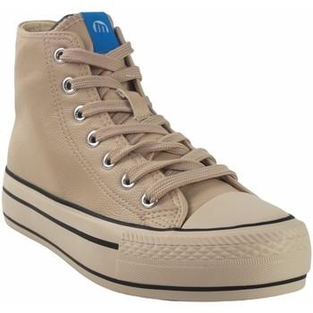 Zapatos Mujer Zapatillas altas MTNG Lona señora MUSTANG 60172 beig Blanco