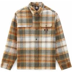 textil Hombre Camisas manga larga Dickies DK0A4XGUMGR1 Verde