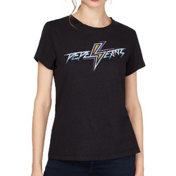 textil Mujer Camisetas manga corta Pepe jeans  Negro