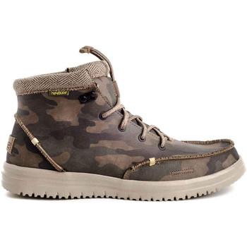 Zapatos Hombre Botas de caña baja Hey Dude BRADLEY Verde