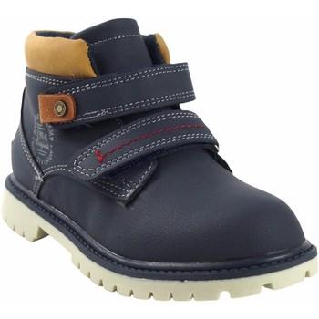 Zapatos Niño Botas de caña baja Bubble Bobble Botín niño  a3085 azul Azul