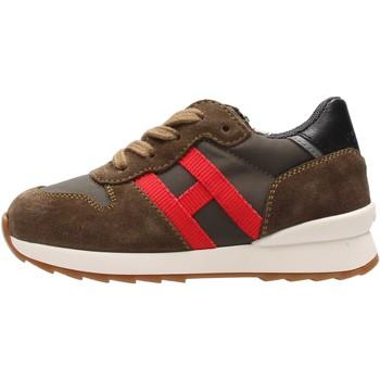 Zapatos Niño Zapatillas bajas Hogan - J484 verdone/rosso HXT4840CY50QB5883Z VERDE