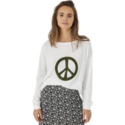 textil Mujer Camisetas manga larga Five Camiseta  Paz Ecru  Mujer Multicolor