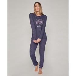 textil Mujer Pijama Admas Hello Weekend MARINO
