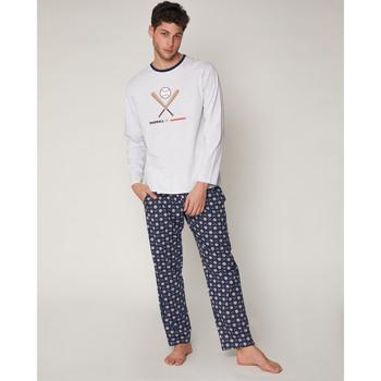 textil Hombre Pijama Admas Baseball Tournament GRIS JASPE