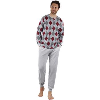 textil Hombre Pijama Admas Rombos GRIS JASPE