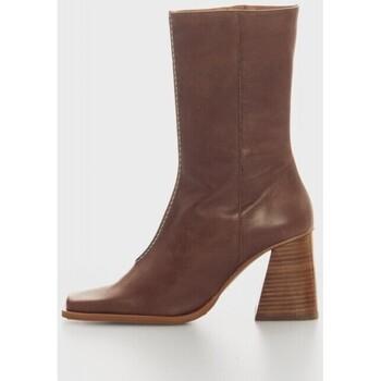 Zapatos Mujer Botines Angel Alarcon 21630 Marron