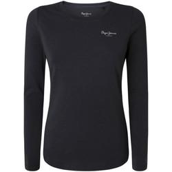 textil Mujer Camisetas manga corta Pepe jeans PL504798 Negro