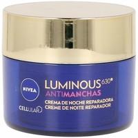 Belleza Antiedad & antiarrugas Nivea Luminous 630º Antimanchas Crema Noche Reparadora