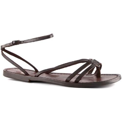 Zapatos Mujer Sandalias Gianluca - L'artigiano Del Cuoio 535 D MORO CUOIO Testa di Moro